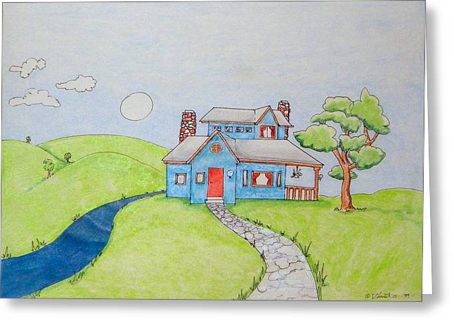 Denny Casto Greeting Cards - Home in the coumtry Greeting Card by Denny Casto