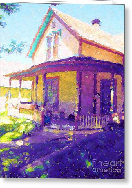 Home In The Rockies Greeting Card by Annie Gibbons