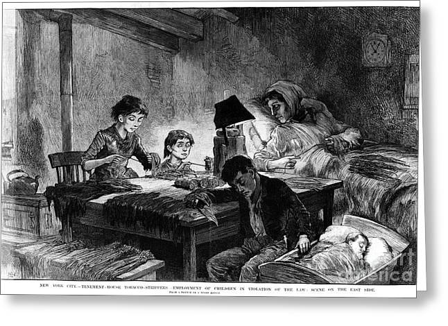 Lampshade Greeting Cards - Home Industry, 1888 Greeting Card by Granger