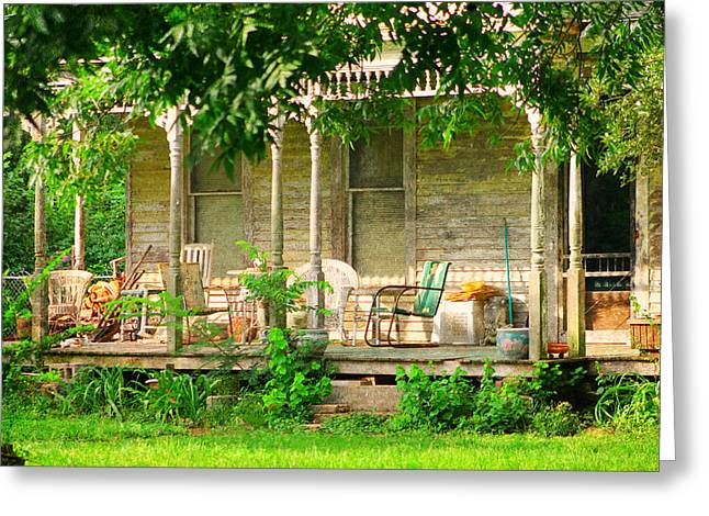 Historic Home Greeting Cards - Home Greeting Card by Jan Canavan