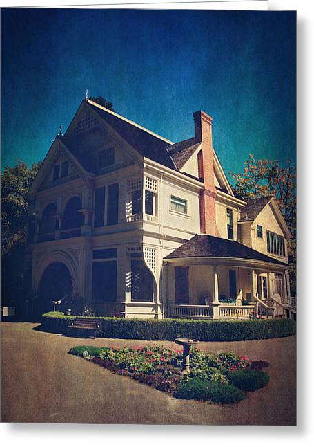 Historical Buildings Digital Art Greeting Cards - Home Greeting Card by Laurie Search