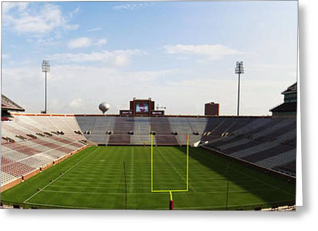 Press Box Greeting Cards - Home Of The Sooners Greeting Card by Ricky Barnard