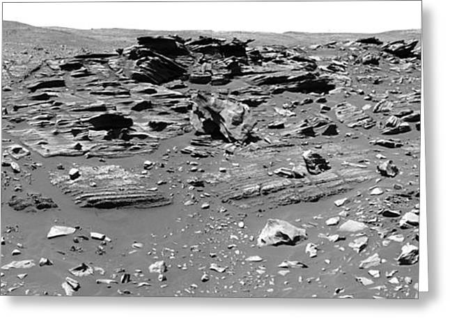 Home Plate, Mars Greeting Card by Nasa