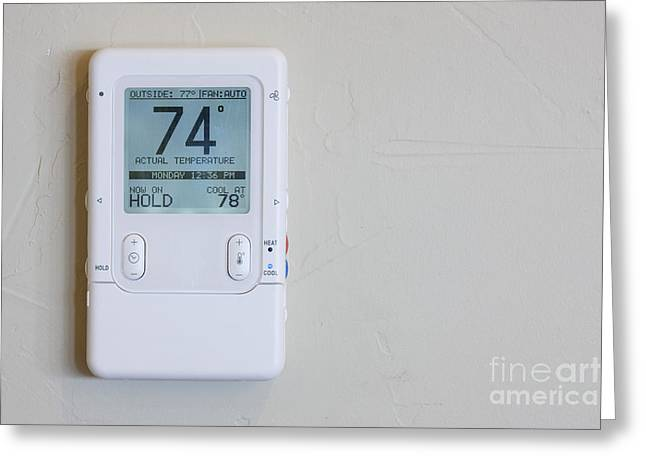 Thermostat Greeting Cards - Home Thermostat and Climate Controller Greeting Card by Jeremy Woodhouse