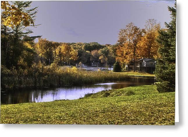Hamlin Lake Greeting Cards - Home Greeting Card by Timothy J Berndt