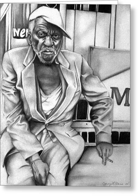 Set Pastels Greeting Cards - Homeless Greeting Card by Carey Davis