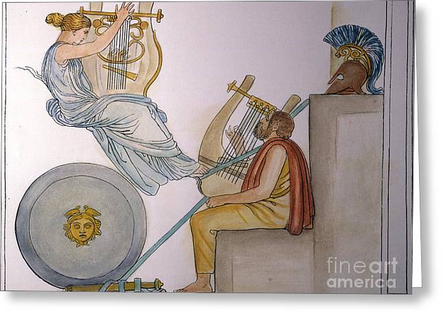 8th Century Greeting Cards - Homer Invoking The Muse Greeting Card by Granger