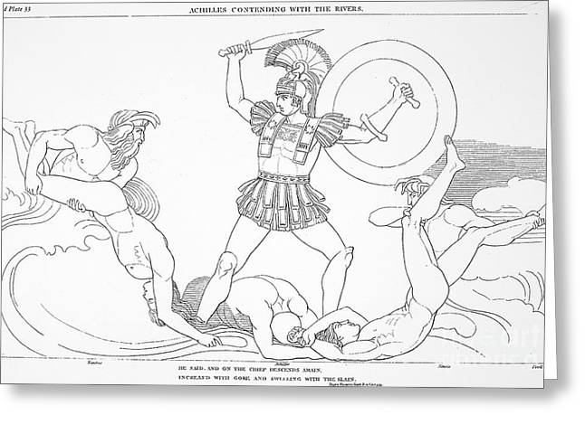 7th Century Greeting Cards - Homer: The Iliad Greeting Card by Granger
