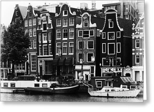 Leda Photography Greeting Cards - Homes of Amsterdam Greeting Card by Leslie Leda