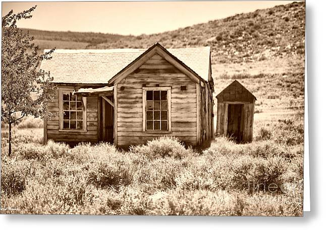 Prospector Greeting Cards - Homestead Greeting Card by Cheryl Young
