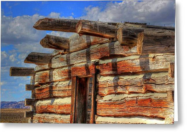 Log Cabins Greeting Cards - Homestead on the Flats Greeting Card by Vikki Correll