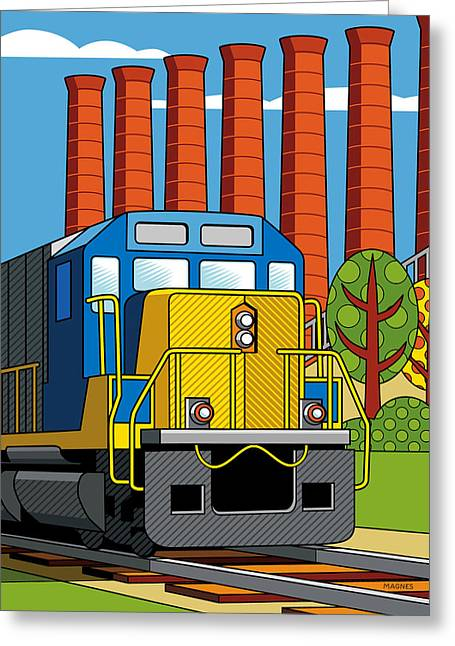 Pittsburgh Digital Greeting Cards - Homestead Stacks Greeting Card by Ron Magnes