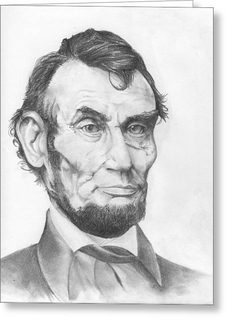 Honest Abe Greeting Card by Avery Wilson