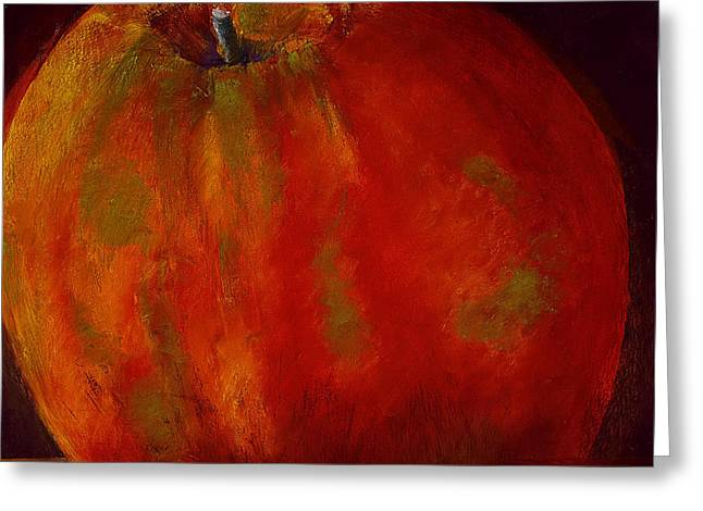 Apple Pastels Greeting Cards - Honeycrisp Greeting Card by David Patterson