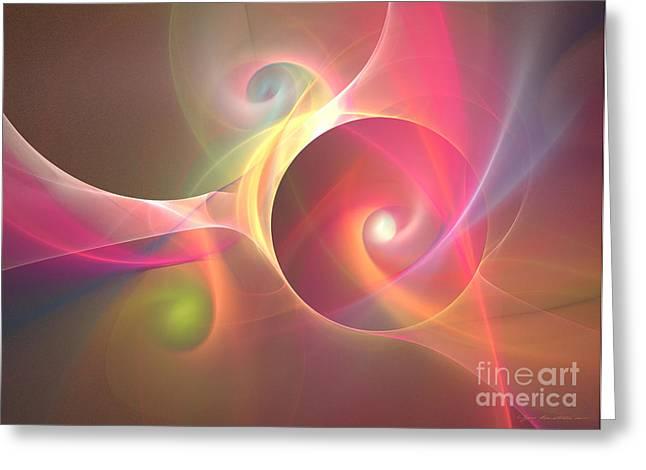 Interior Still Life Mixed Media Greeting Cards - Honeymoon - abstract art Greeting Card by Abstract art prints by Sipo