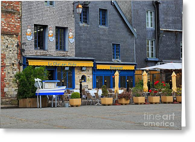 Le Cat Greeting Cards - Honfleur Greeting Card by Louise Heusinkveld