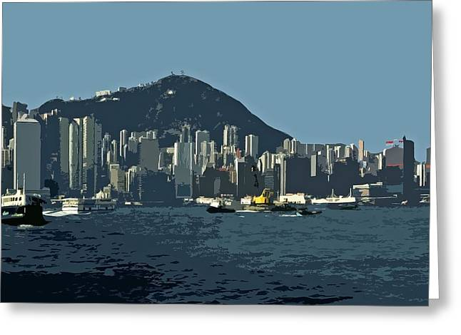 Hong Kong Island ... Greeting Card by Juergen Weiss