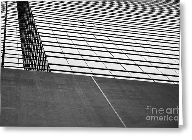 Squares. Linear Greeting Cards - Hong Kong Linear Greeting Card by Dean Harte