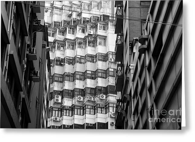 Air Conditioner Greeting Cards - Hong Kong Living I Greeting Card by Dean Harte