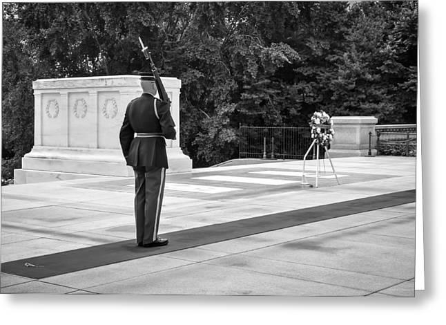 Arlington Greeting Cards - Honorable Duty Greeting Card by Frank Mari