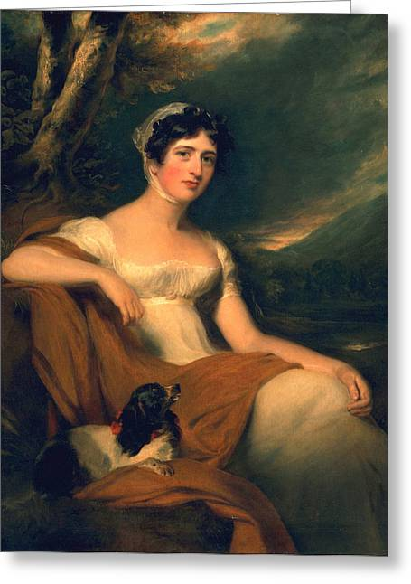 Georgian Paintings Greeting Cards - Honorable Emma Cunliffe later Emma Cunliffe-Offley Greeting Card by Thomas Lawrence