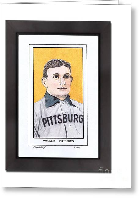 Baseball Art Pastels Greeting Cards - Honus Wager Greeting Card by Jay Kinney