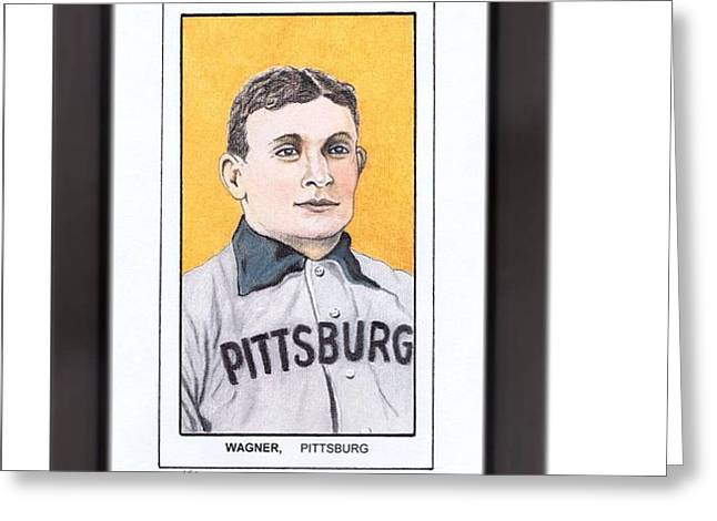 Honus Wager Greeting Card by Jay Kinney