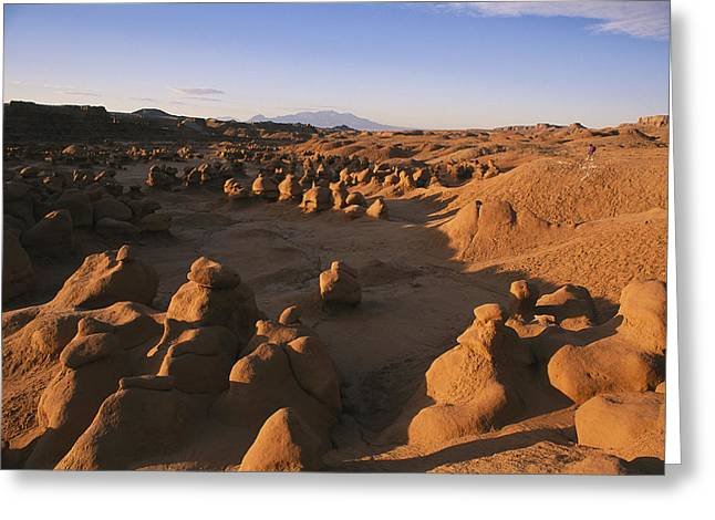 Geological Formations Greeting Cards - Hoodoos Cover The Landscape Of Goblin Greeting Card by Michael S. Lewis