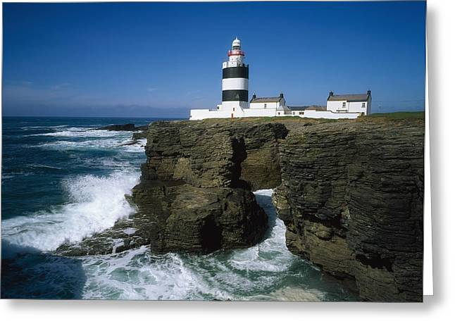 E Black Greeting Cards - Hook Head Lighthouse, Co Wexford Greeting Card by The Irish Image Collection