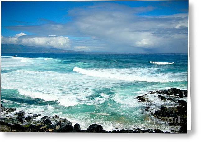 Wind Surfing Greeting Cards - Hookipa Beach Maui Greeting Card by Kelly Wade