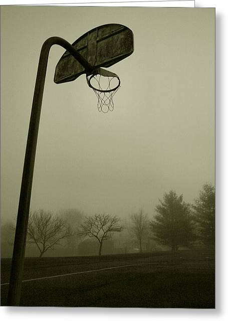 Winter Sports Prints Greeting Cards - Hoop Dream Greeting Card by Steven Ainsworth