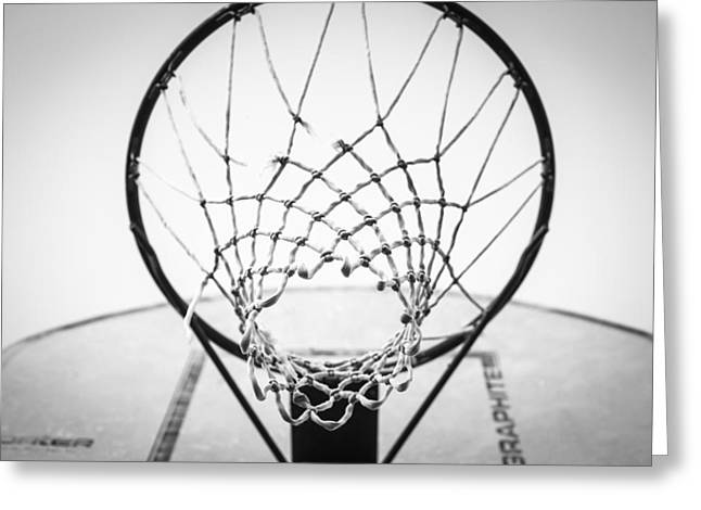 Swishes Greeting Cards - Hoop Dreams Greeting Card by Susan Stone