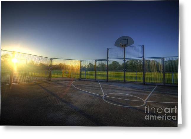 Basketballs Greeting Cards - Hoops Heaven  Greeting Card by Yhun Suarez