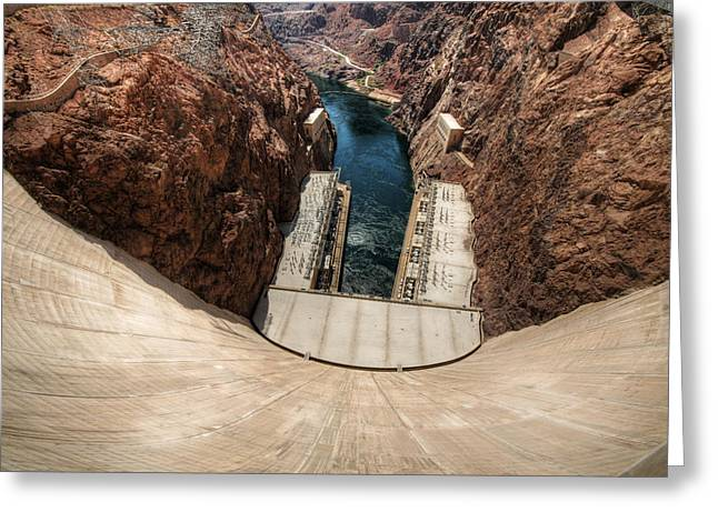 Power Plants Greeting Cards - Hoover Dam 4 Greeting Card by Jessica Velasco