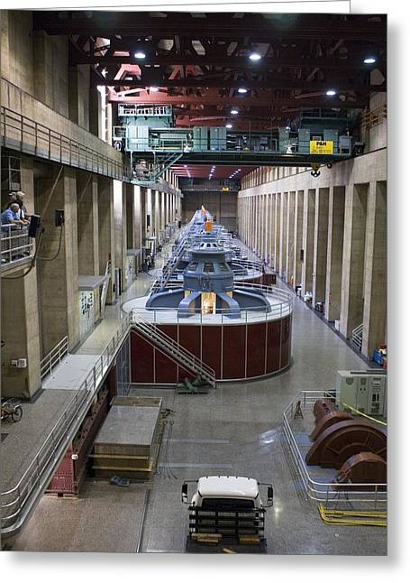 Hydroelectric Greeting Cards - Hoover Dam Generator Hall Greeting Card by Mark Williamson