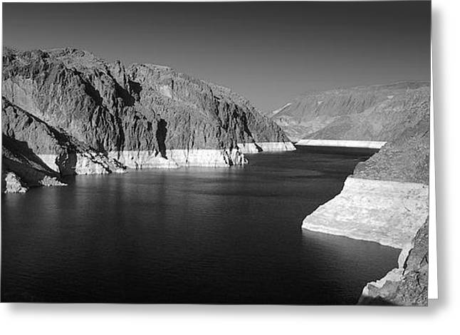 Hoover Dam Reservoir - Architecture on a grand scale Greeting Card by Christine Till