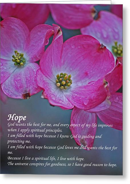 Affirmation Greeting Cards - Hope - The Affirmation Series  Greeting Card by Michelle  BarlondSmith