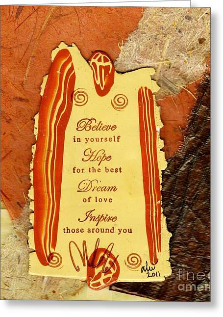 Polymer Clay Greeting Cards - Hope 4 the BEST Greeting Card by Angela L Walker