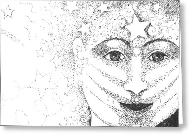 New Year Drawings Greeting Cards - Hope and Rebirth Greeting Card by Helena Tiainen