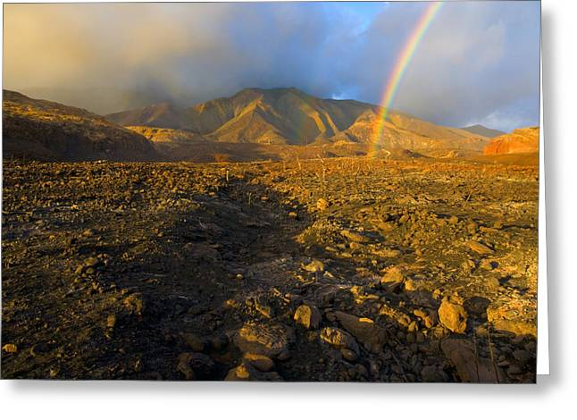 Rainbow Photographs Greeting Cards - Hope from Desolation Greeting Card by Mike  Dawson
