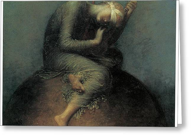 Hope Greeting Card by George Frederic Watts