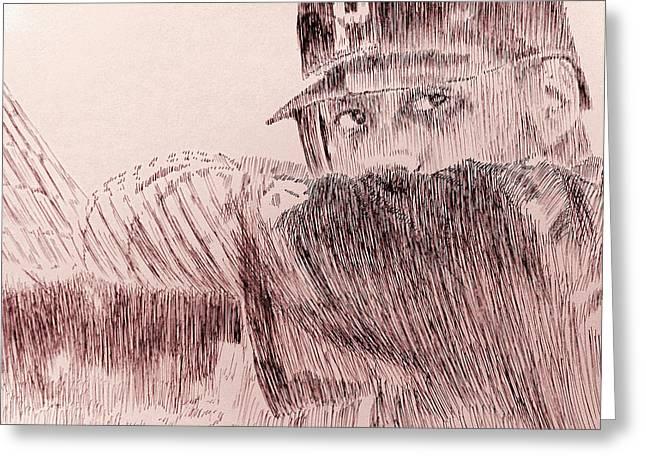 Pittsburgh Pirates Drawings Greeting Cards - Hope Springs Eternal Greeting Card by Robbi  Musser
