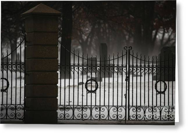 Headstones Greeting Cards - Hopeful Expectation Greeting Card by Linda Knorr Shafer