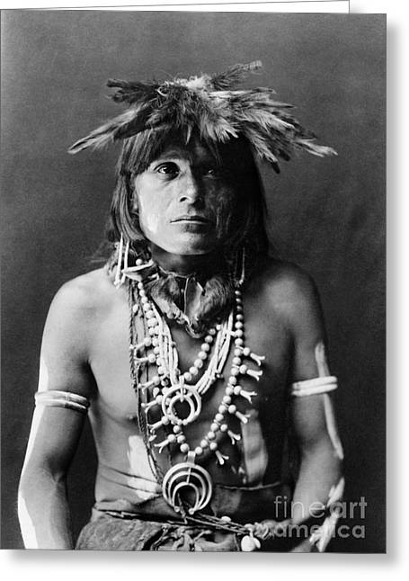 Hopi Indian Greeting Cards - HOPI CHIEF, c1900 Greeting Card by Granger