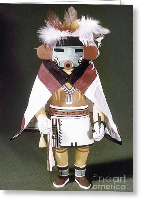 Hopi Indian Greeting Cards - Hopi Kachina Doll Greeting Card by Granger