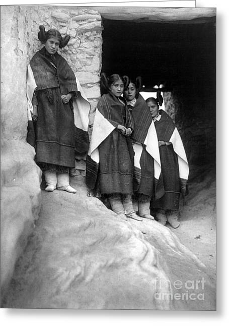 Hopi Indian Greeting Cards - Hopi Maidens, 1906 Greeting Card by Granger