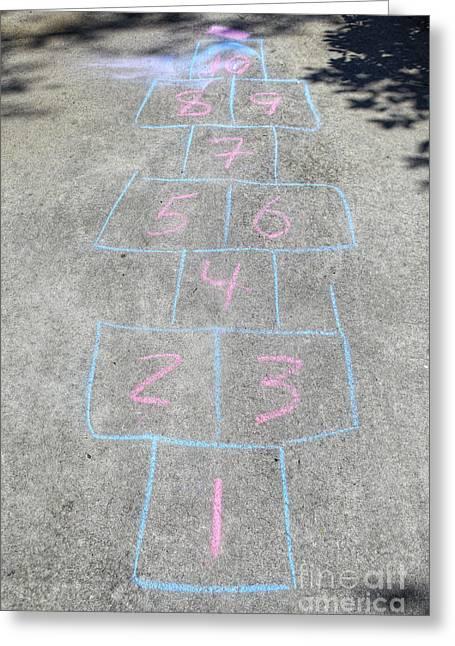 Hopscotch Greeting Cards - Hopscotch Grid Greeting Card by Skip Nall