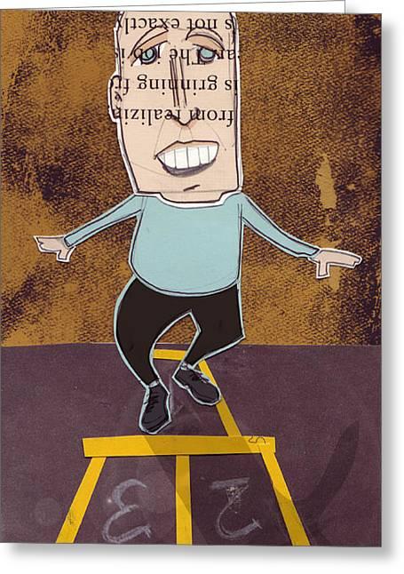 Hopscotch Greeting Cards - Hopscotch Greeting Card by Jim Howard