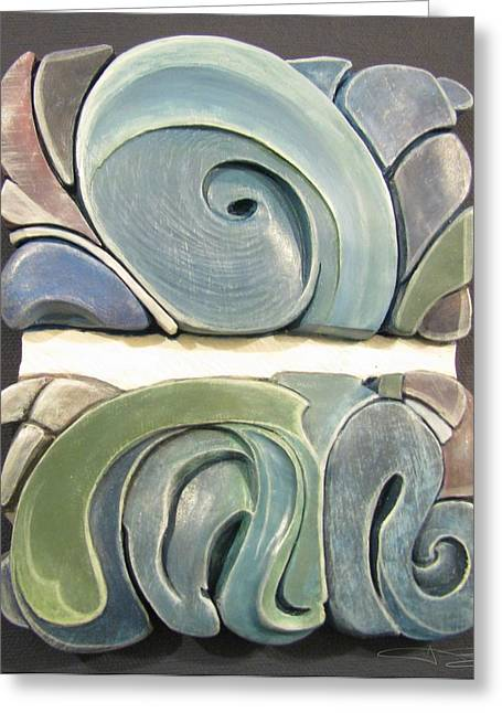 Water Reliefs Greeting Cards - Horizon Greeting Card by James Day