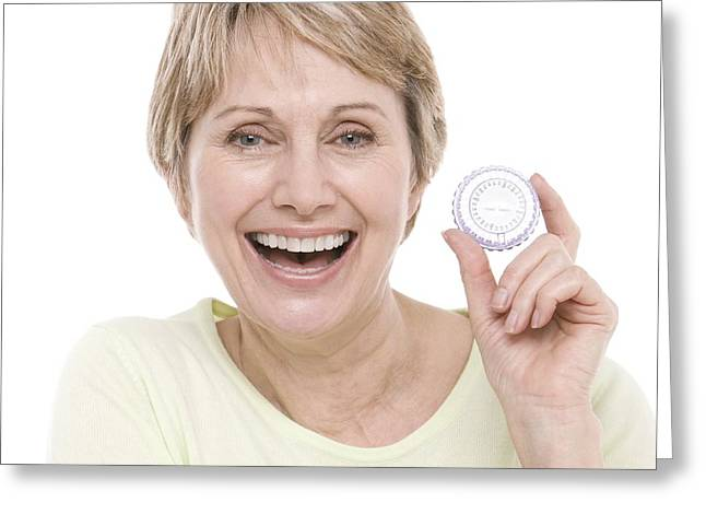 Toothy Smile Greeting Cards - Hormone Replacement Therapy Pills Greeting Card by